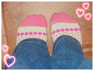 my valentine socks by sataikasia