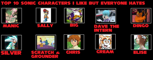 Sonic Characters I Love But Others Hate by RoseOfTheNight4444
