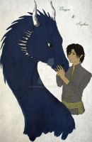 Eragon and Saphira by GamaDes