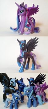 Restyled Princess Luna And Nightmare Moon by Oak23