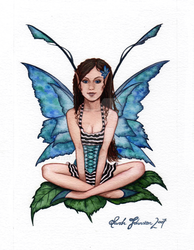 Bluegreen faery.. by Aretalogus