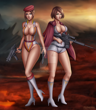 Angel soldier and Anon Soldier by zodiak1984