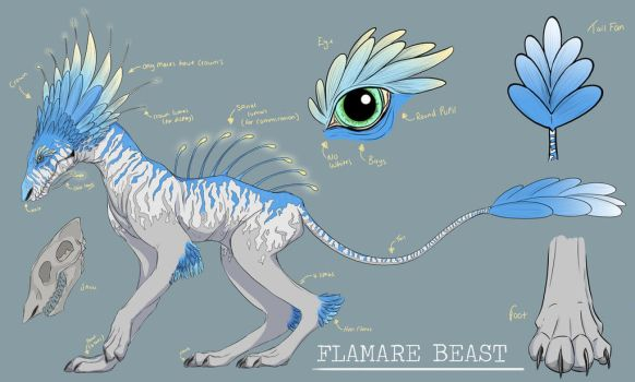 Flamare Beast: Character sheet by TheJasIllustrator