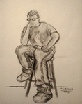 Thinking Man on a Stool by themizarkshow
