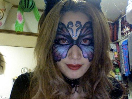 butterfly face by APPLEmily