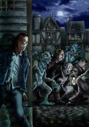 Escape From Innsmouth by Loneanimator