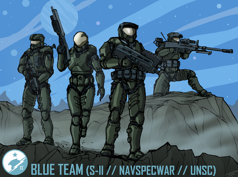 Blue Team by The-Chronothaur