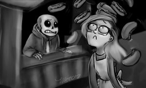 Hello darkness my old friend - Day 34 by InstantDoodles13