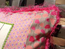 Opalescence Throw Pillow Detail by reluctantbrony