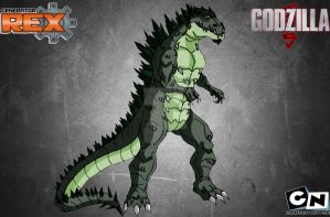 Godzilla in Genrex style(request) by Kamran10000