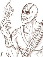 Quan Chi sketch by MauroIllustrator