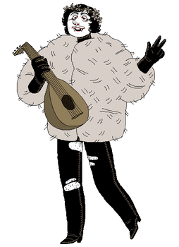 guy with lute by triple65forkedtongue