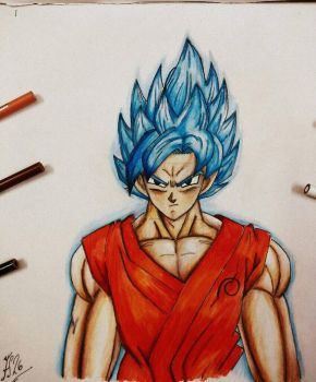 Goku Super Saiyan God Blue (Ssj God Ssj) by FlashStar26