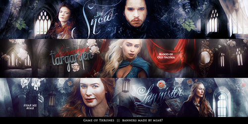 Game of Thrones banners by mia47
