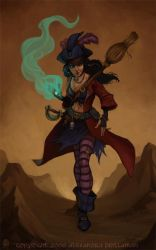 Witch Pirate by thundercake