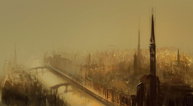 Old City Sketch by GolpeArt