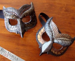 Painted Resin Owl Masks by Nightlyre