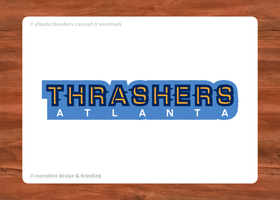 Atlanta Thrashers Wordmark by chickenfish13
