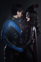 Nightwing / Huntress by Kamiko-Zero