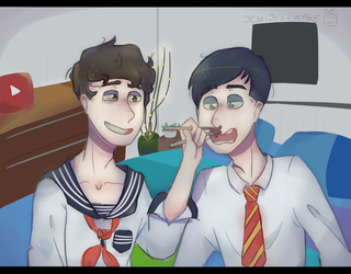 Dan and Phil School lunches by jessijellycake