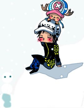 Chibi Law and Chopper- The wonder snow by RinALaw