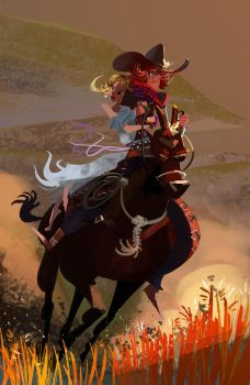 No woman on horse by galgard