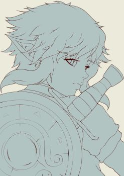 Link-breath of the wild(sketch) by MilarS