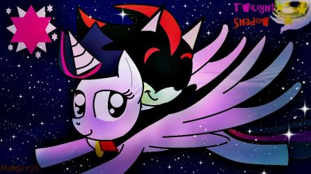 Twilight Sparkle and Shadow the Hedgehog by mumble76