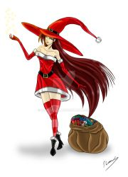 Yullia, the Christmas witch by Sombreval