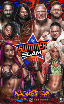 Summerslam 2017 poster by Sjstyles316