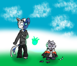 meowstic and espurr TF (Contest) by diamondTY