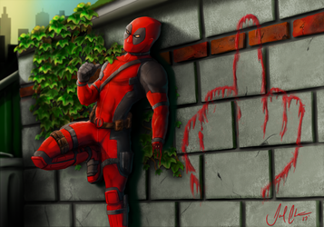 DEADPOOL Finger by PlexisOrion