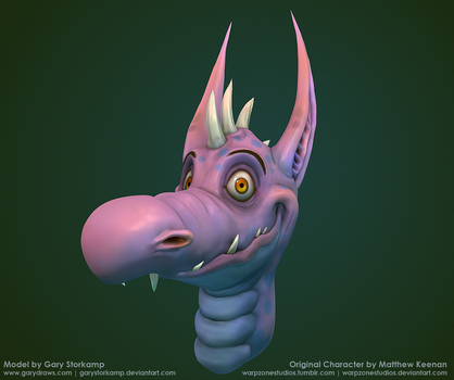 A Happy Dragon 3D by GaryStorkamp
