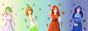 (Gift) Four Seasons by Metanaito-kyou
