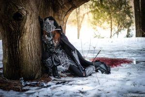 Skyrim: Nightingale Cosplay, arrow to the knee by vikkiievoltage