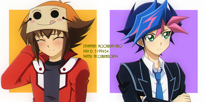 Yusaku y Judai x2 by MoonLight-Caro