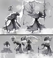 Wraith Sketches by Carpet-Crawler