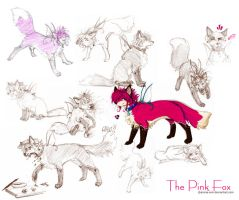 Pink Fox by anime-erin