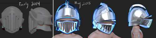 Knight Helmet by Dmeville