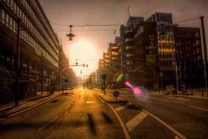 Golden Streets by MartinJP