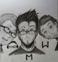 Let's draw - Mark, Bob and Wade! by Haiymi