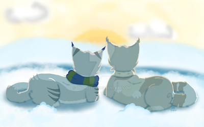 The wintery sunrise together ~ by OnlyRebex