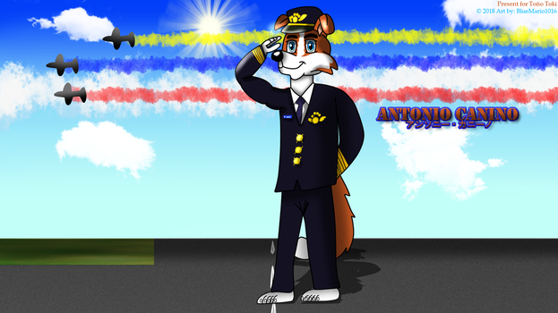 Aviation Ace Border Collie by BlueMario1016