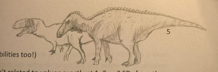 Doodle Theropod and Iguanodont by CMIPalaeo