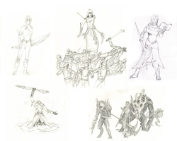 Guild Wars Fan Sketches by Riot-Inducer