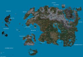 Map of Tamriel by Aazdremzol