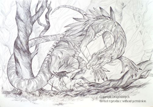 Turin and Glaurung by dragonladych