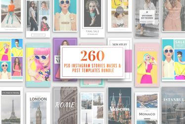 260 Instagram Stories And Templates by symufa