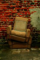 homeless  armchairs by CannonCat