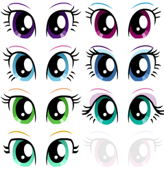 EqG Dress Up - preview (eyes) by Liggliluff